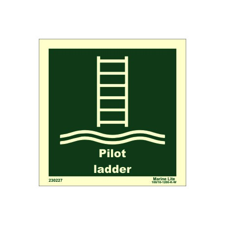 PILOT LADDER  (15x15cm) Phot.Vin. IMO sign 230227