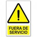 TIE TAG CARTEL FUERA DE SERVICIO  (10,5x15cm) Phot.Vin. IMO sign 758105
