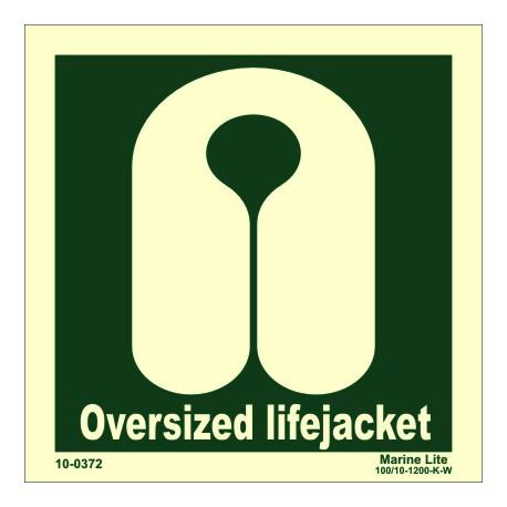 LIFEJACKET OVERSIZED  (15x15cm) Phot.Vin. IMO sign 100372
