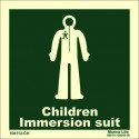 IMMERSION SUIT- CHILD  (15x15cm) Phot.Vin. IMO sign 104112-CH / LSS021
