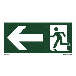 EXIT ARROW LEFT  (7,5x15cm) Set 10 units IMO sign 132382TV