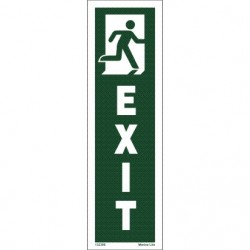 EXIT MAN RUN.RIGHT (25x7,5cm) IMO sign 132386TV