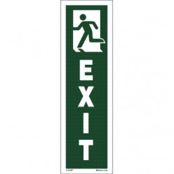 EXIT MAN RUNN. LEFT  (25x7,5cm) IMO sign 132387TV