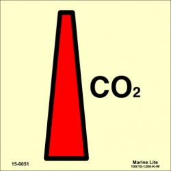 CO2 NOZZLE  (15x15cm) Phot.Vin. IMO sign 150051