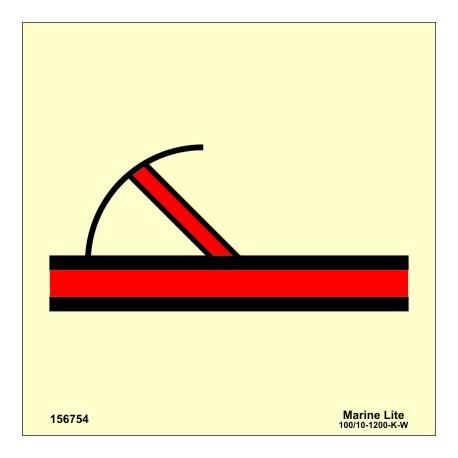 "Señal IMO PUERTA  CONTRAINCENDIOS ABATIBLE CLASE ""A"" (15x15cm) vinilo fotoluminiscente 156754/6032"