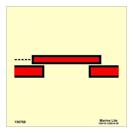 A-CLASS SLIDING FIRE DOOR  (15x15cm) Phot.Vin. IMO sign 156766/6034