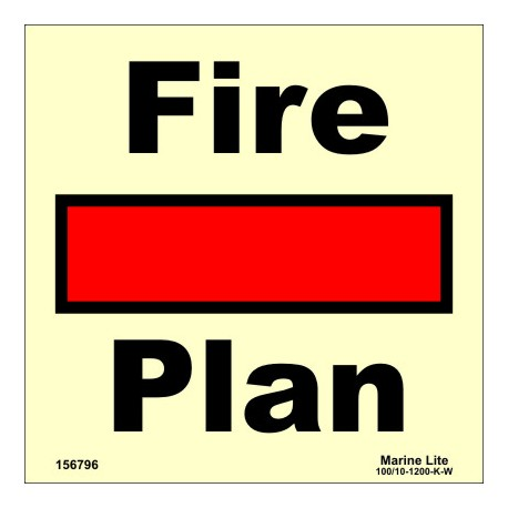FIRE CONTROL PLAN  (15x15cm) Phot.Vin. IMO sign 156796/6001 / SIS001