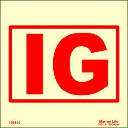 INERT GAS INSTALLATION  (15x15cm) Phot.Vin. IMO sign 156840/6073 / SIS041