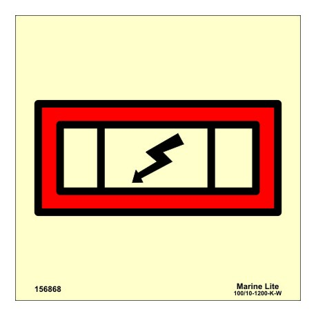 Señal IMO CUADRO ELÉCTRICO DE EMERGENCIA (15x15cm) vinilo fotoluminiscente 156868/6077 / SIS050