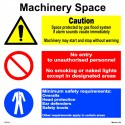 MACHINERY SPACE  (30x30cm) White Vin. IMO sign 173111WV