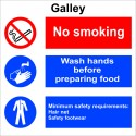 GALLEY  (30x30cm) White Vin. IMO sign 173124WV