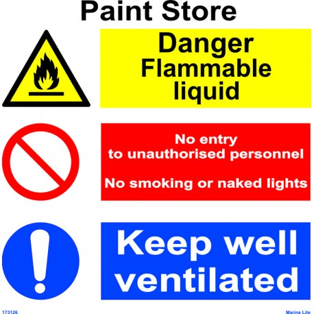 PAINT STORE  (30x30cm) White Vin. IMO sign 173126WV