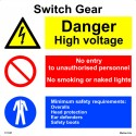SWITCH GEAR  (30x30cm) White Vin. IMO sign 173127WV