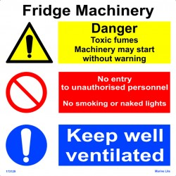 FRIDGE MACHINERY  (30x30cm) White Vin. IMO sign 173129WV