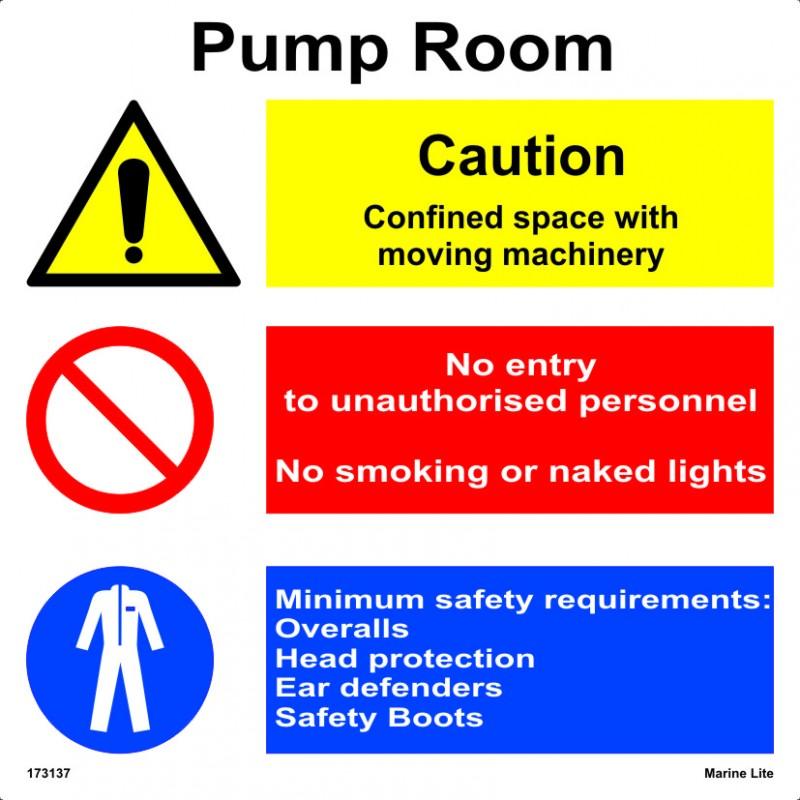PUMP ROOM (30x30cm) White Vin  IMO sign 173137WV
