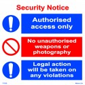 SECURITY NOTICE  (30x30cm) White Vin. IMO sign 173139WV