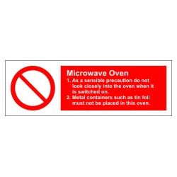 MICROWAVE OVEN  (10x30cm) White Vin. IMO sign 178618WV