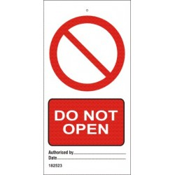 DO NOT OPEN  (7,5x15cm) Set 10 uds IMO sign 182523-SET