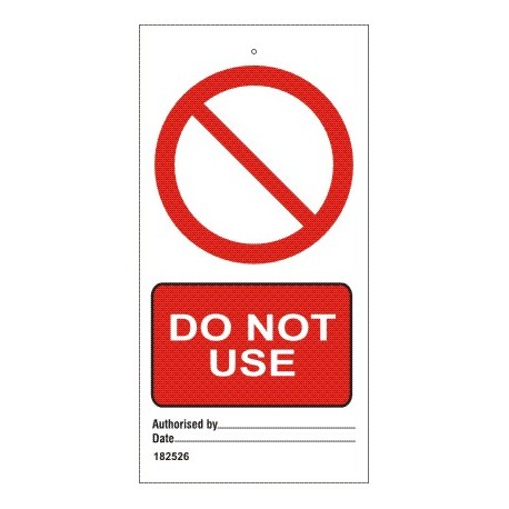 DO NOT USE  (7,5x15cm) White Vin. IMO sign 182526-SET