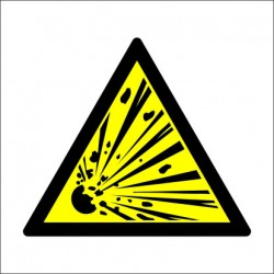 EXPLOSION RISK  (15x15cm) White Vin. IMO sign 187504WV / WSS002
