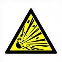 EXPLOSION RISK  (15x15cm) White Vin. IMO sign 187504WV