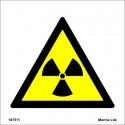 RADIO-ACTIVE SUBSTANCES  (15x15cm) White Vin. IMO sign 187511WV / WSS003
