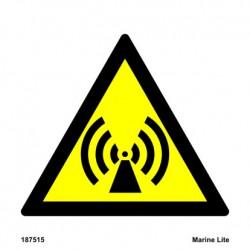 CAUTION NON-IONIZING RADIATION  (15x15cm) White Vin. IMO sign 187515WV / WSS005