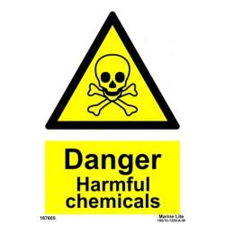 DANGER HARMFUL CHEMICALS  (20x15cm) White Vin. IMO sign 187605WV