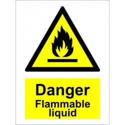 FLAMMABLE LIQUID  (20x15cm) White Vin. IMO sign 187631WV