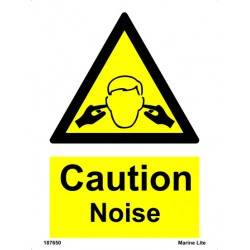 CAUTION NOISE  (20x15cm) White Vin. IMO sign 187650WV