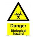 DANGER BIOLOGICAL HAZARD  (20x15cm) White Vin. IMO sign 187680WV