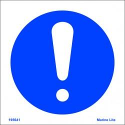 Señal IMO PENSAR EN LA SEGURIDAD (15x15cm) vinilo blanco autoadhesivo 195641WV / MSS001