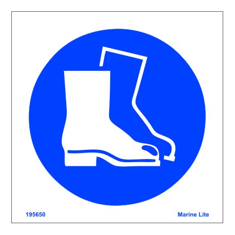 WEAR BOOTS  (15x15cm) White Vin. IMO sign 195650WV / MSS008
