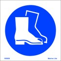 WEAR BOOTS  (15x15cm) White Vin. IMO sign 195650WV