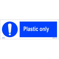 PLASTIC ONLY  (10x30cm) White Vin. IMO sign 195690WV
