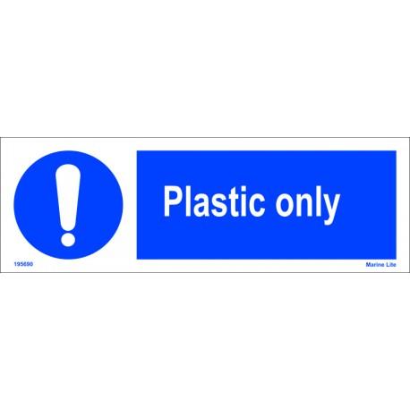 PLASTIC ONLY  (10x30cm) White Vin. IMO sign 195690WV