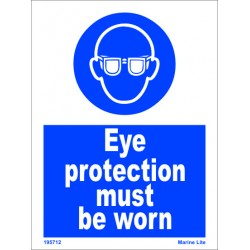EYE PROTECTION MUST BE WORN  (20x15cm) White Vin. IMO sign 195712WV
