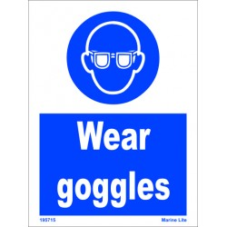 WEAR GOGGLES  (20x15cm) White Vin. IMO sign 195715WV