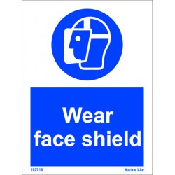 WEAR FACE SHIELD  (20x15cm) White Vin. IMO sign 195716WV