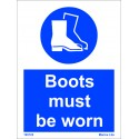 BOOTS MUST BE WORN  (20x15cm) White Vin. IMO sign 195725WV