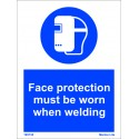 FACE PROTECTION-WELDING  (20x15cm) White Vin. IMO sign 195735WV