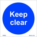 KEEP CLEAR  (15x15cm) White Vin. IMO sign 195802WV