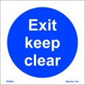 EXIT-KEEP CLEAR  (15x15cm) White Vin. IMO symbol 195822WV