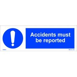 REPORT ACCIDENTS  (10x30cm) White Vin. IMO symbol 195851WV