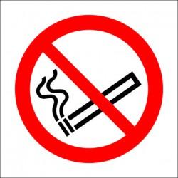 NO SMOKING  (10x10cm) White Vin. IMO symbol 208500(08)WV / PSS002