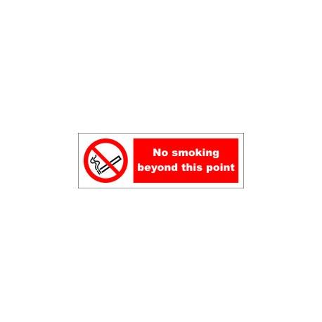 NO SMOKING BEYOND THIS POINT  (10x30cm) White Vin. IMO symbol 208533WV