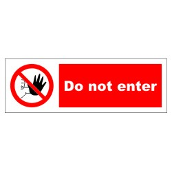 DO NOT ENTER  (10x30cm) White Vin. IMO symbol 208542WV