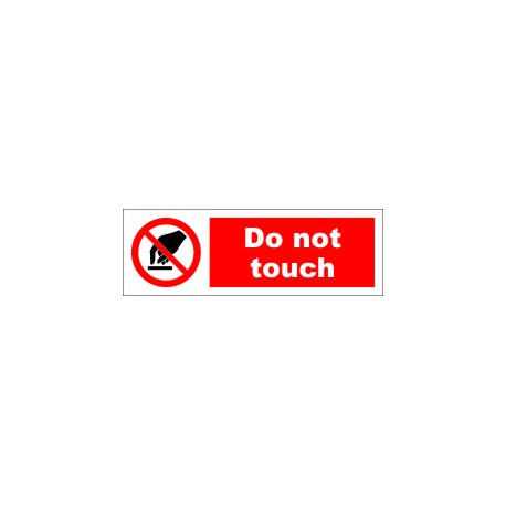 DO NOT TOUCH  (10x30cm) White Vin. IMO symbol 208548WV