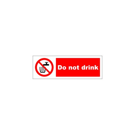 DO NOT DRINK  (10x30cm) White Vin. IMO symbol 208550WV