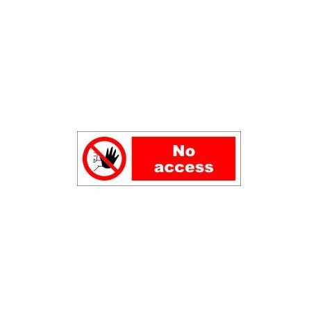 NO ACCESS  (10x30cm) White Vin. IMO symbol 208557WV